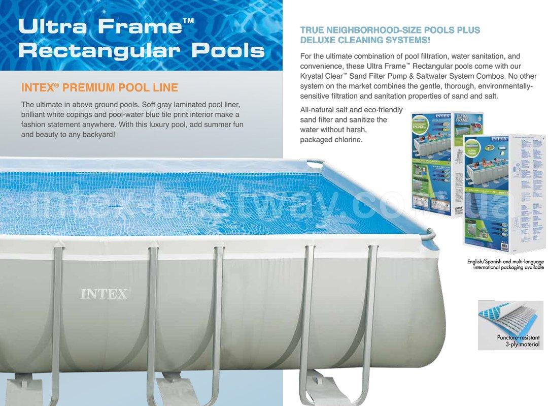 Прямоугольные каркасные бассейны Ultra Frame Rectangular Pools