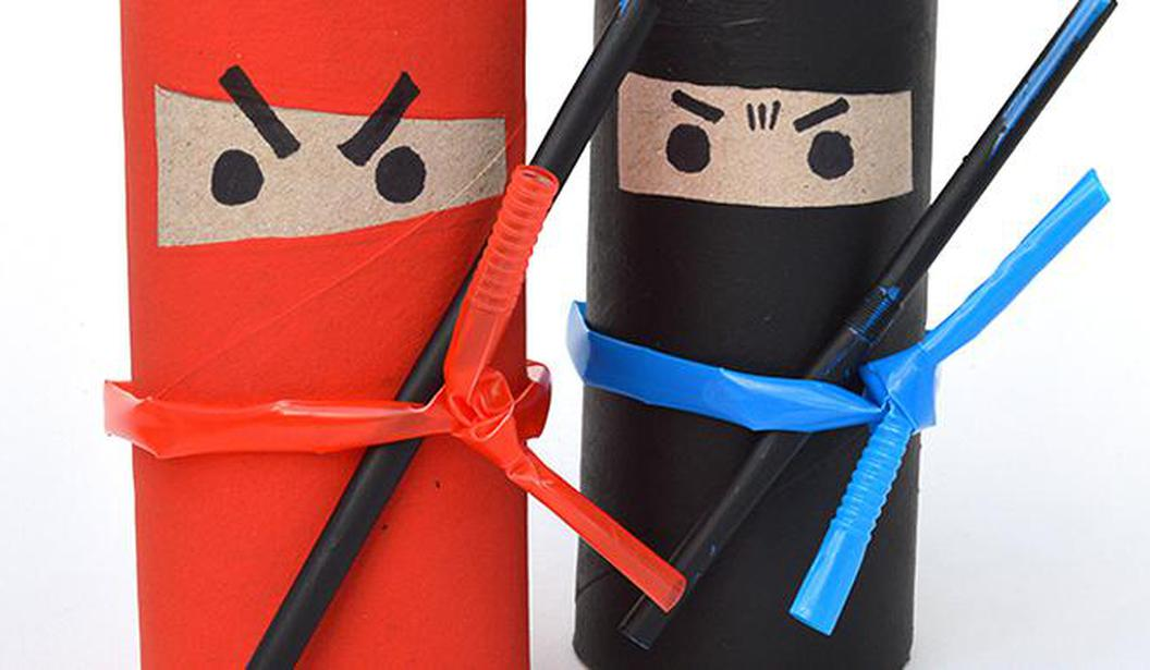 Toilet Roll Crafts: Ninjas @ Dubai