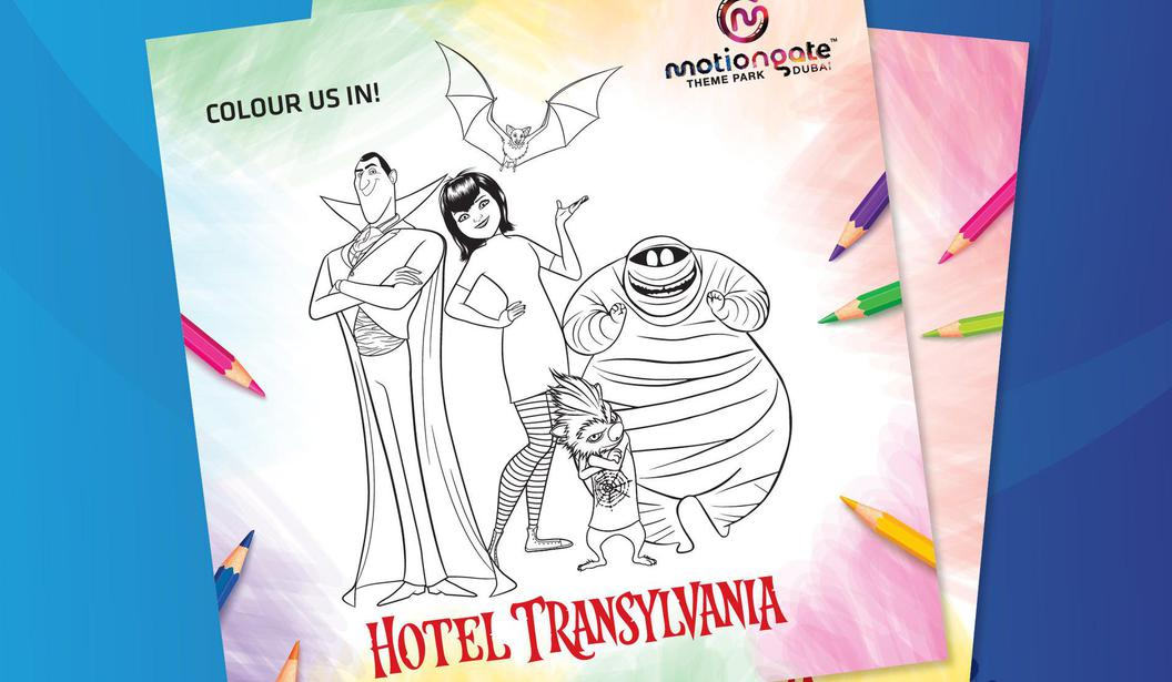 Hotel Transylvania Colouring Sheet @ Dubai