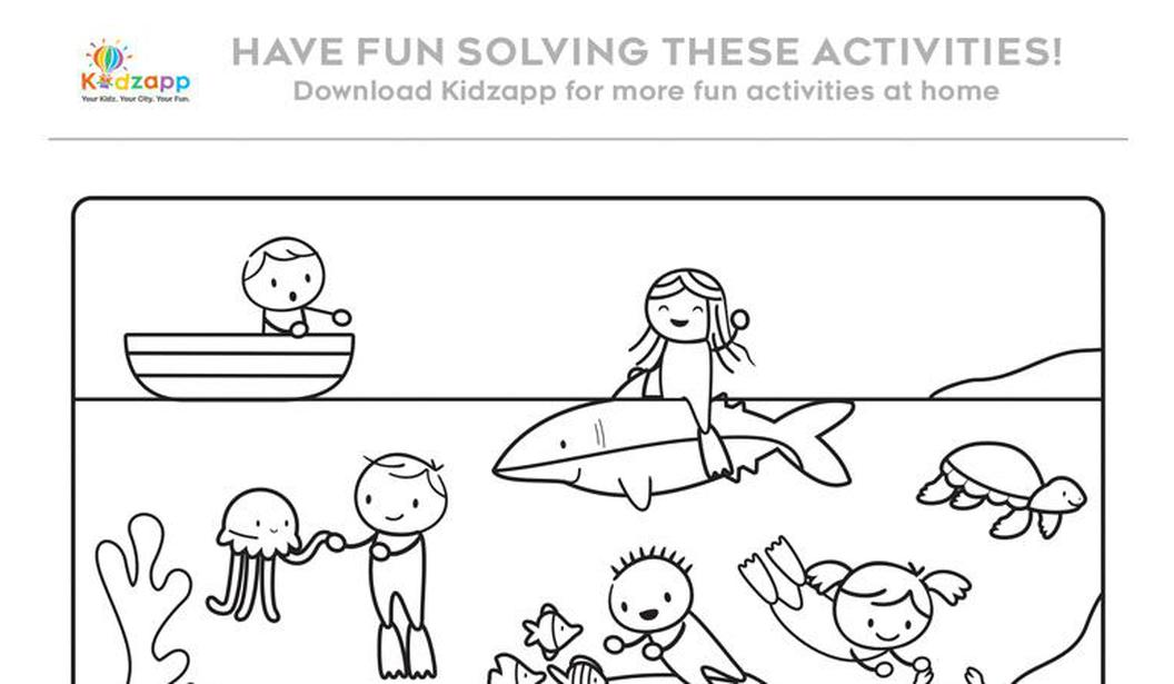 Kidzapp Activity Sheet (Colour/Word) @ Dubai