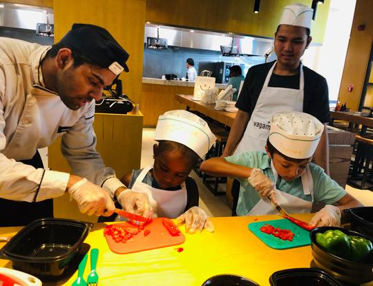 Kids Cooking Classes at Wagamama @ Dubai