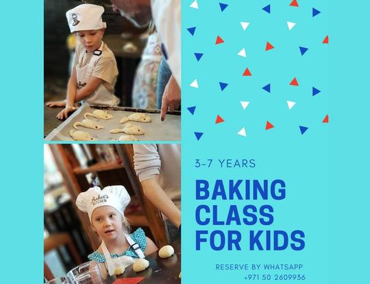 Kids Baking Class at Bakers Kitchen @ Dubai
