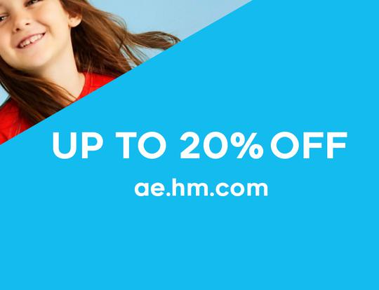 Up to 20% off H&M online @ Dubai