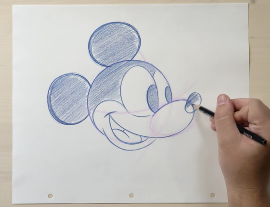Draw Mickey Mouse at Home @ Dubai