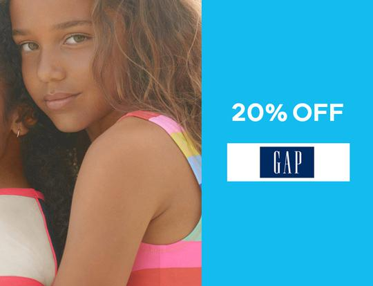 Up to 20% off gap.ae @ Dubai