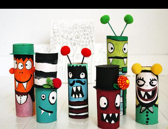 Toilet Roll Crafts: Monsters @ Dubai