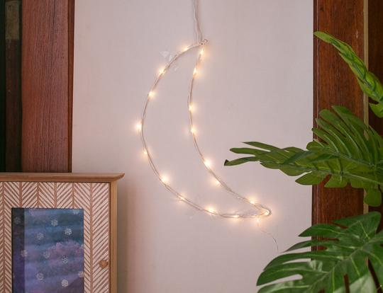 DIY Fairy Lights Crescent Moon @ Cairo