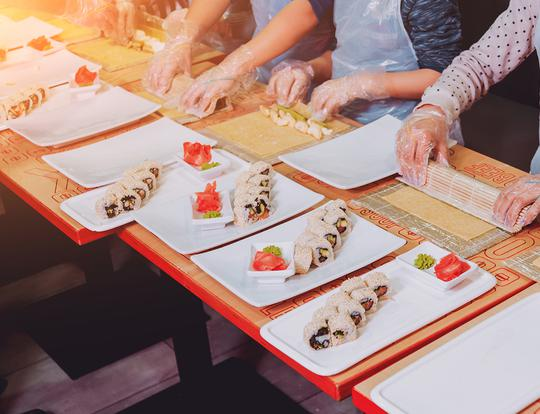 Sushi Making For Kids with Mamalu Kitchen @ Dubai