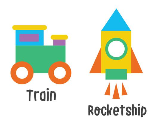 Kidzapp Objects Puzzle (Train, Rocket, House) @ Dubai