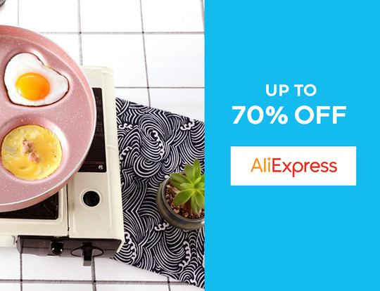 Up to 70% off Ali Express