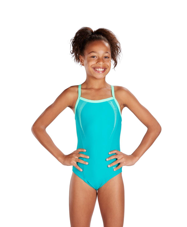 Speedo Junior Muscleback Swimsuit Swimming Costume ...