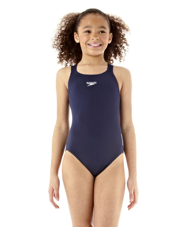 Speedo Girls Endurance Swimsuit Swimming Lesson Costume ...