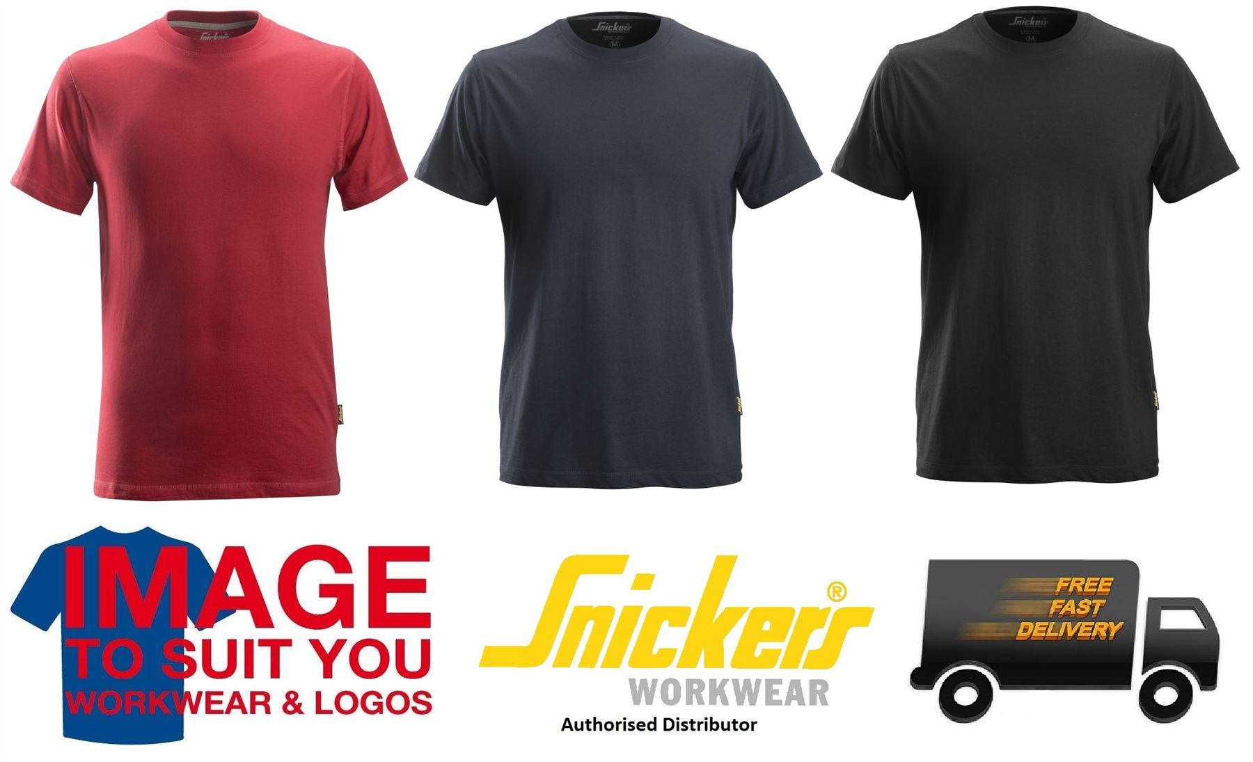 Snickers All Round Work T-Shirt 2518 Crew Neck Cotton T-shirt