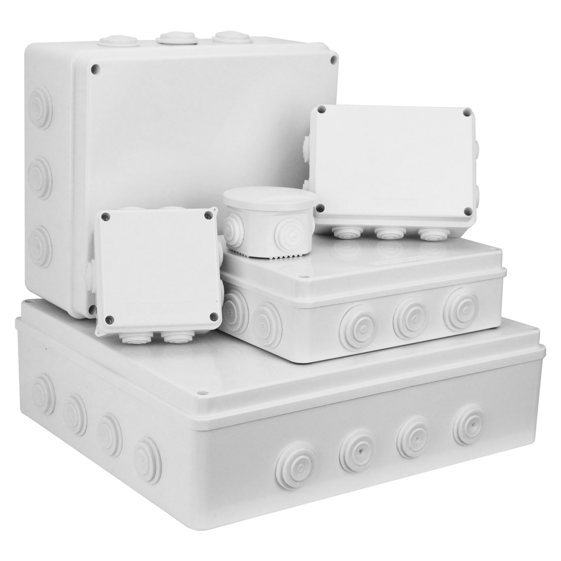 Buy Ip65 Junction Box In Home Electrical Fittings Ebay At Light Fixture Proceeds To First 3way Switch A 4 Maxx Digital Plastic Weatherproof Ip44 Terminal Indoor Outdoor