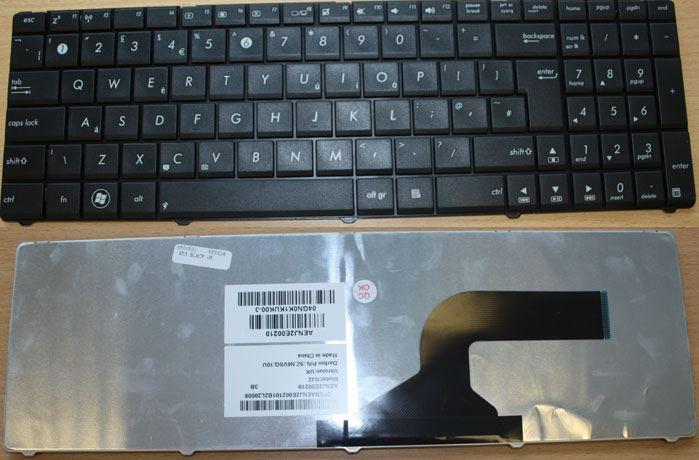 Asus 04GN0K1KUK00-3 9Z.N6VSQ.10U AENJ2E00210 N53 UK Laptop Keyboard