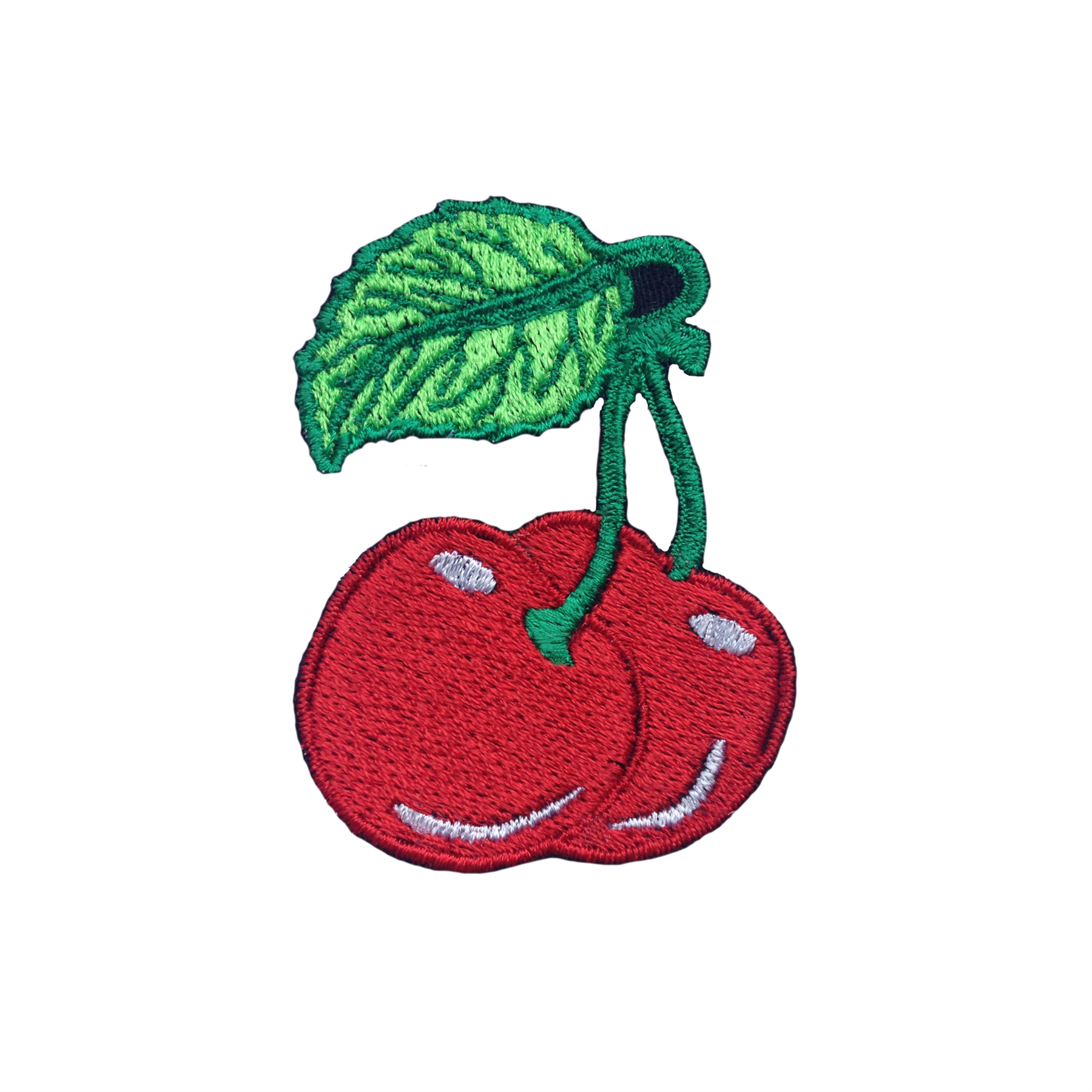 Red Cherry Patch Embroidered Applique Iron On Sew On Patch Badge