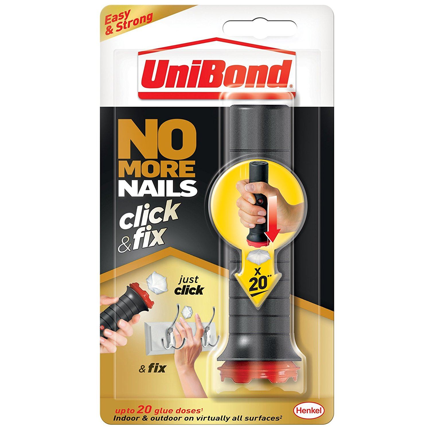 Unibond No More Nails Click and Fix Easy To Use Strong No Mess Glue ...