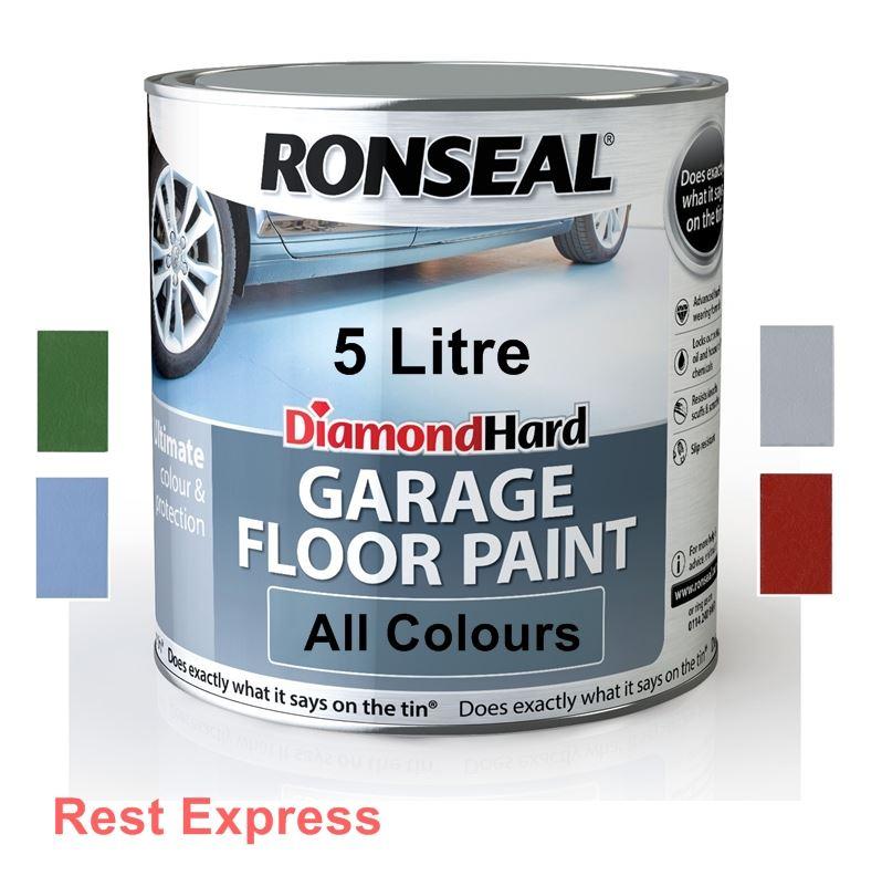 Ronseal Diamond Hard GARAGE FLOOR PAINT Heavy Duty - 5L / 5 Litre - ALL COLOURS