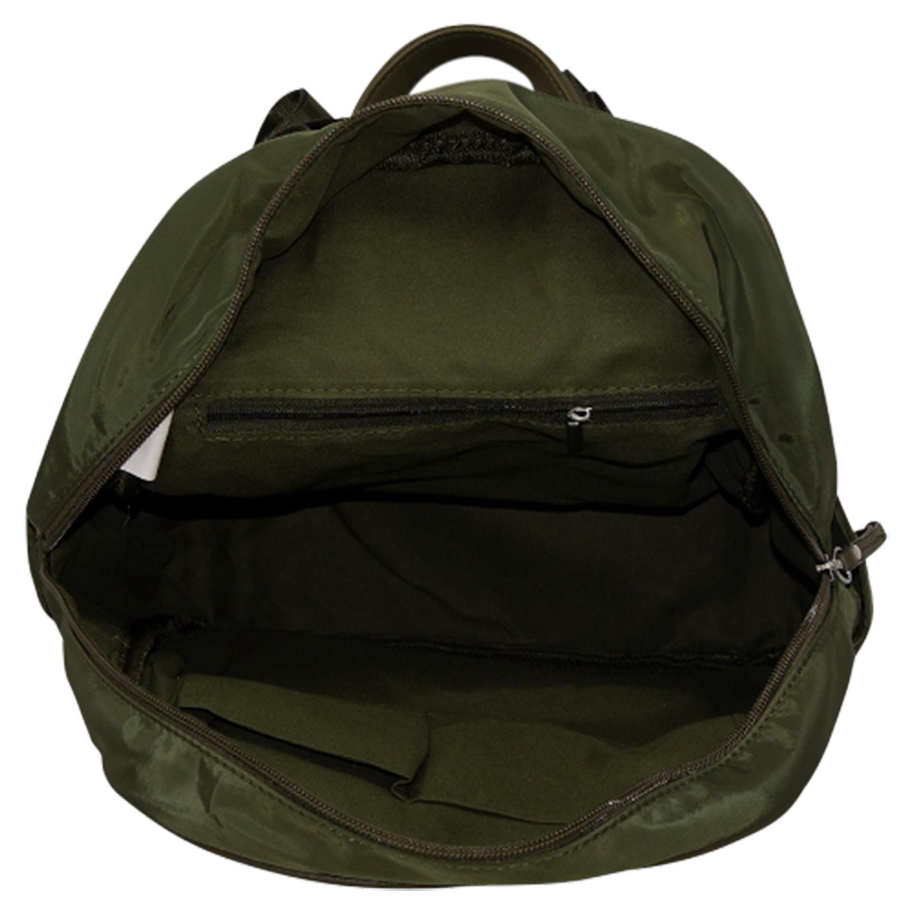 New-Unisex-Plain-Nylon-Showerproof-School-College-Backpack-Rucksack thumbnail 15
