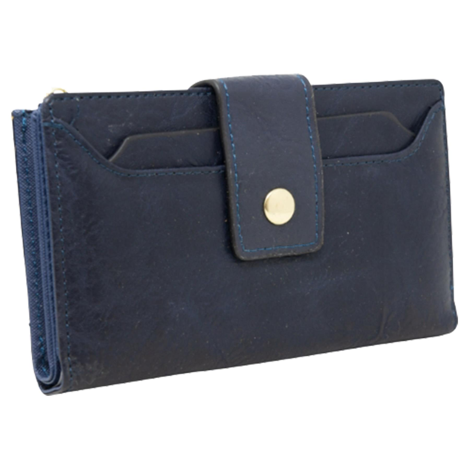 New-Soft-Plain-Synthetic-Leather-Card-Organiser-Ladies-Long-Purse thumbnail 7
