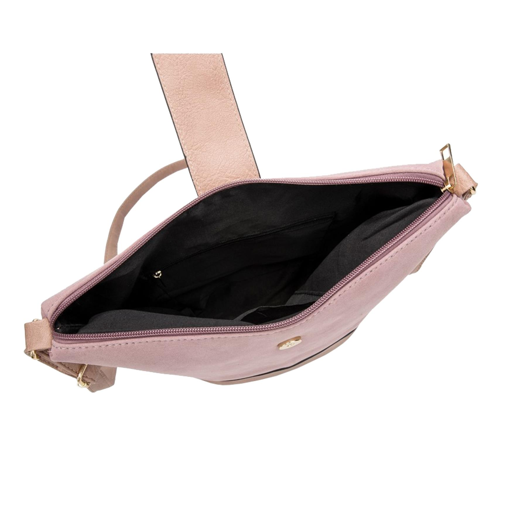 New-Ladies-Two-Toned-Faux-Leather-Fashion-Shoulder-Cross-Body-Bag thumbnail 10