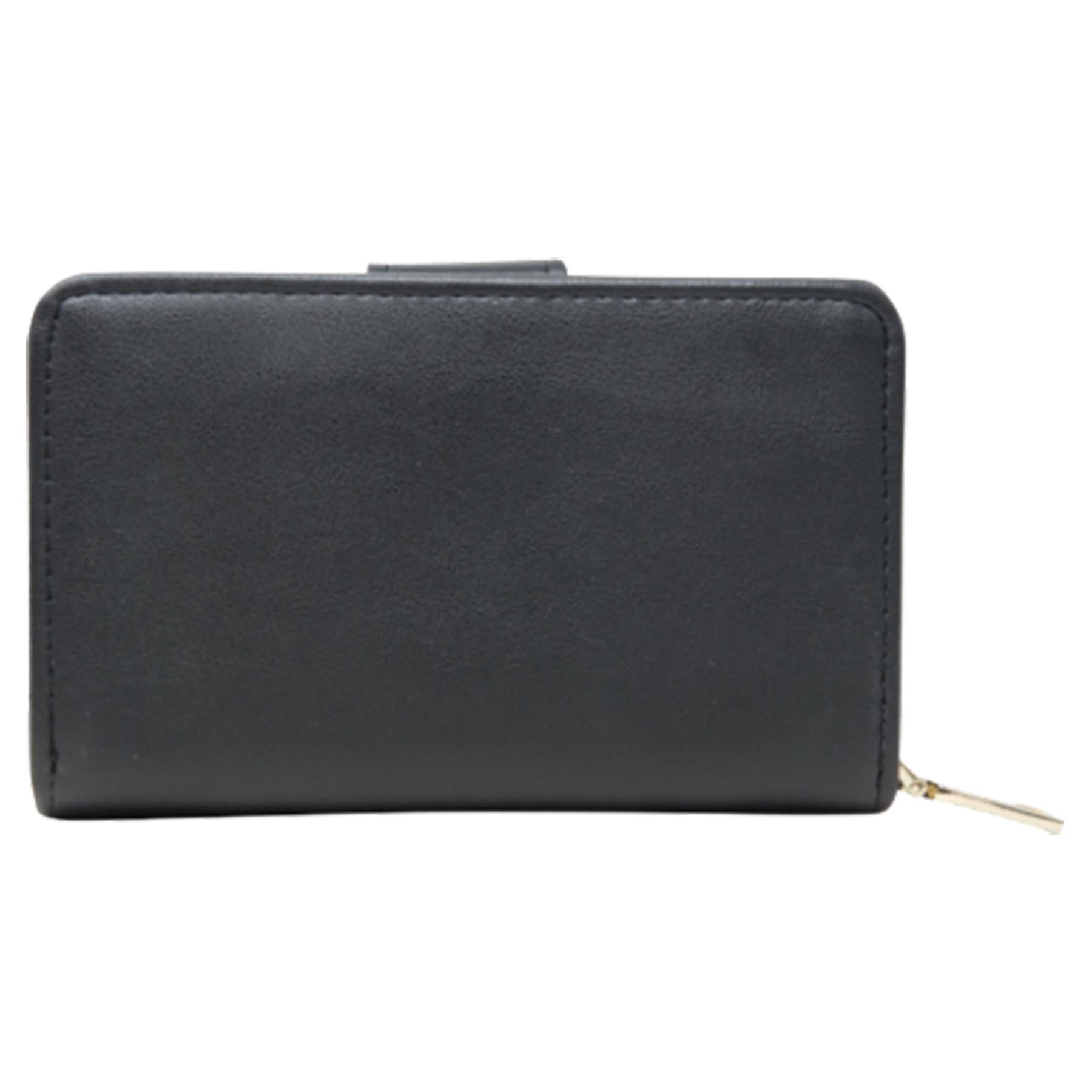 New-Ladies-Card-Slots-Zipped-Pocket-Faux-Leather-Basic-Wallet-Purse thumbnail 4