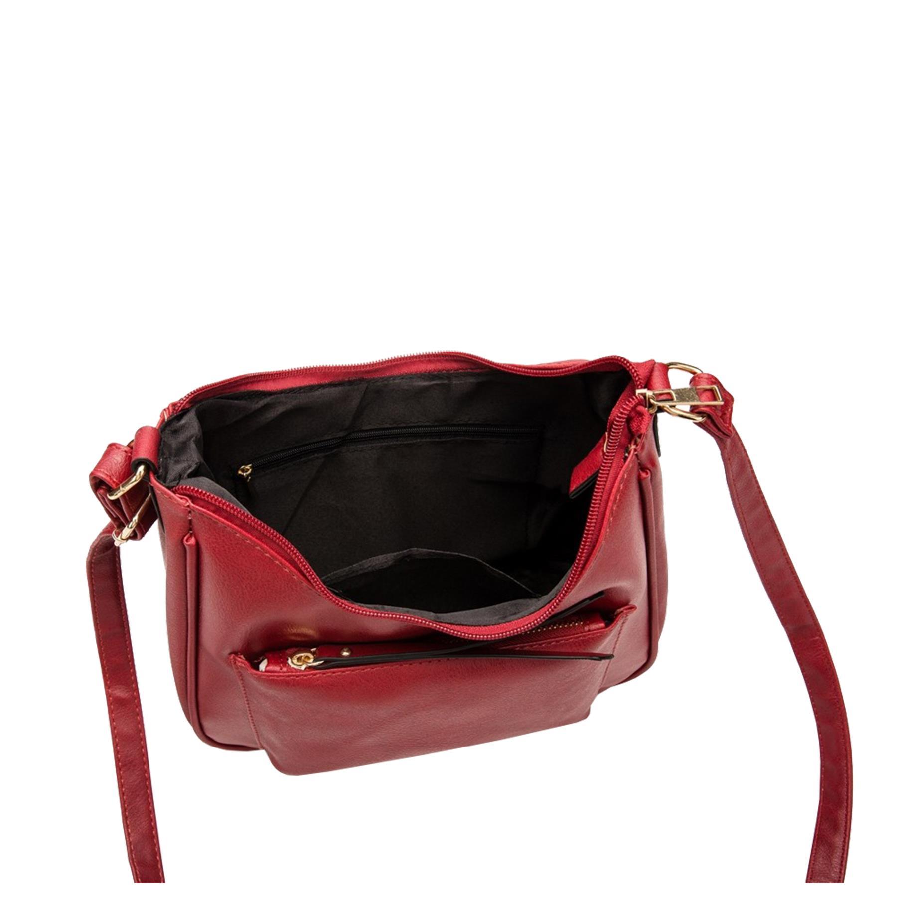 New-Soft-Synthetic-Leather-Front-Pocket-Ladies-Casual-Crossbody-Bag-Handbag thumbnail 4