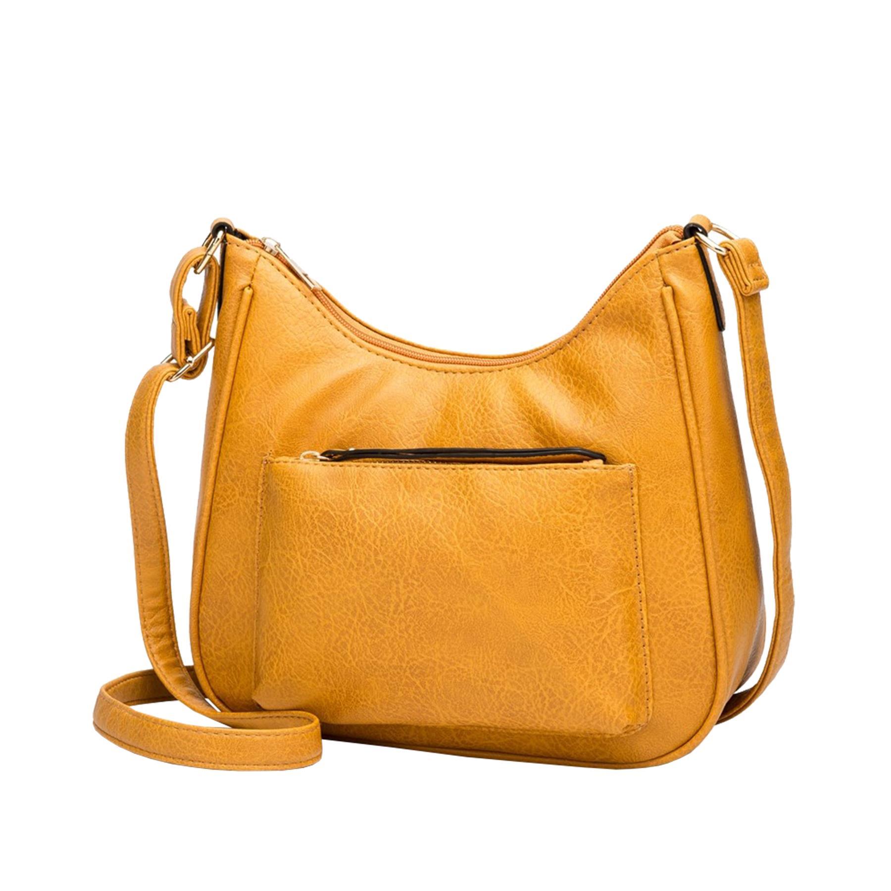 New-Soft-Synthetic-Leather-Front-Pocket-Ladies-Casual-Crossbody-Bag-Handbag thumbnail 12