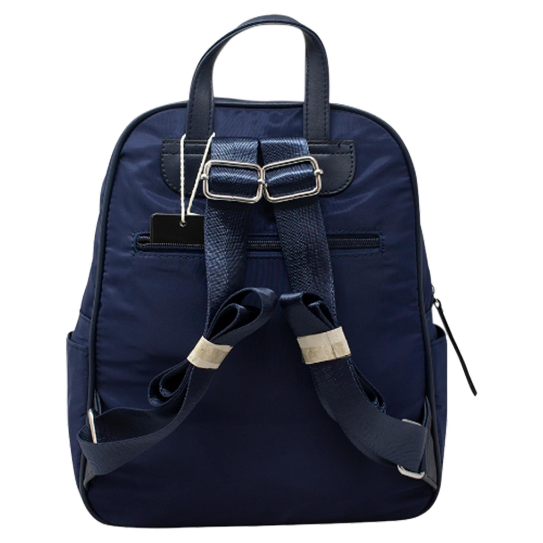 New-Unisex-Plain-Nylon-Showerproof-School-College-Backpack-Rucksack thumbnail 9