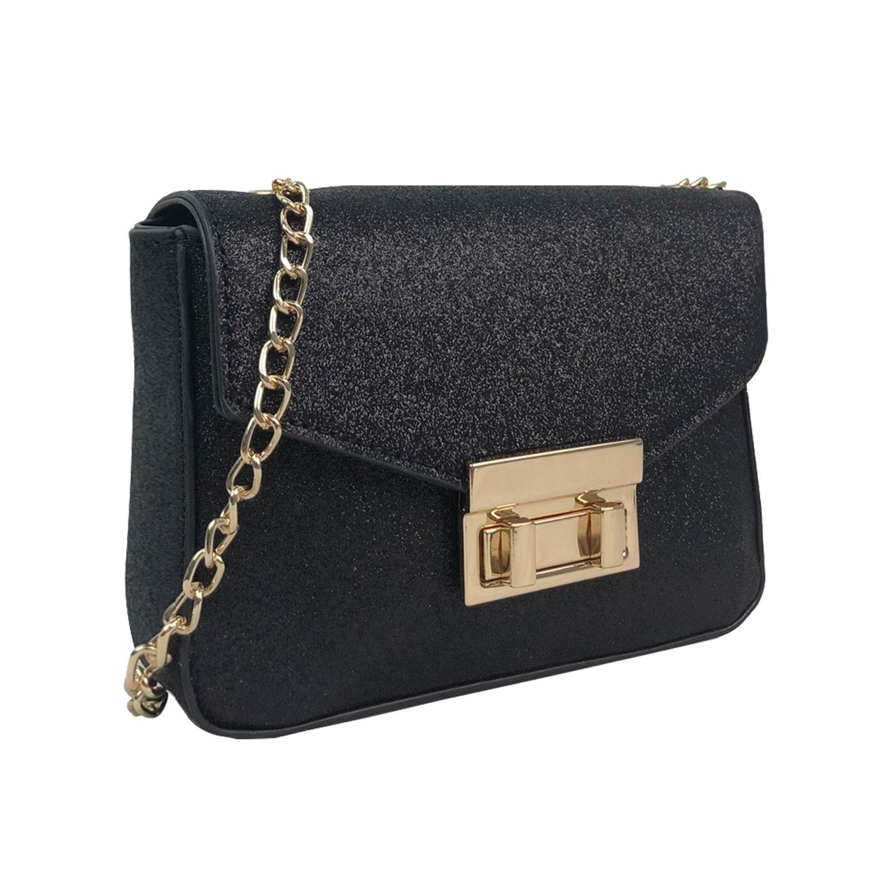 New-Glitter-Chain-Tassel-Decoration-Ladies-Party-Stylish-Clutch-Shoulder-Bags thumbnail 3