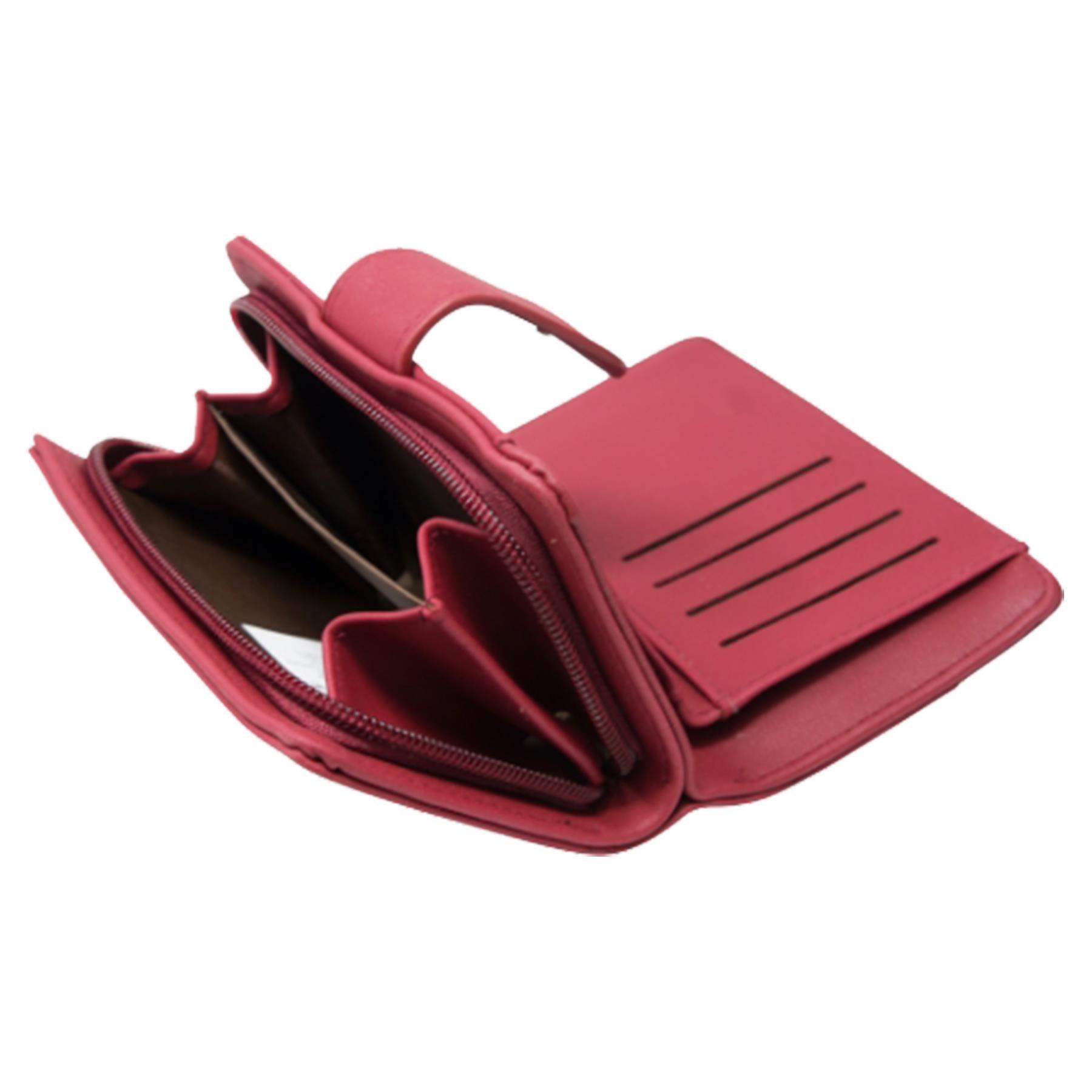 New-Ladies-Card-Slots-Zipped-Pocket-Faux-Leather-Basic-Wallet-Purse thumbnail 20