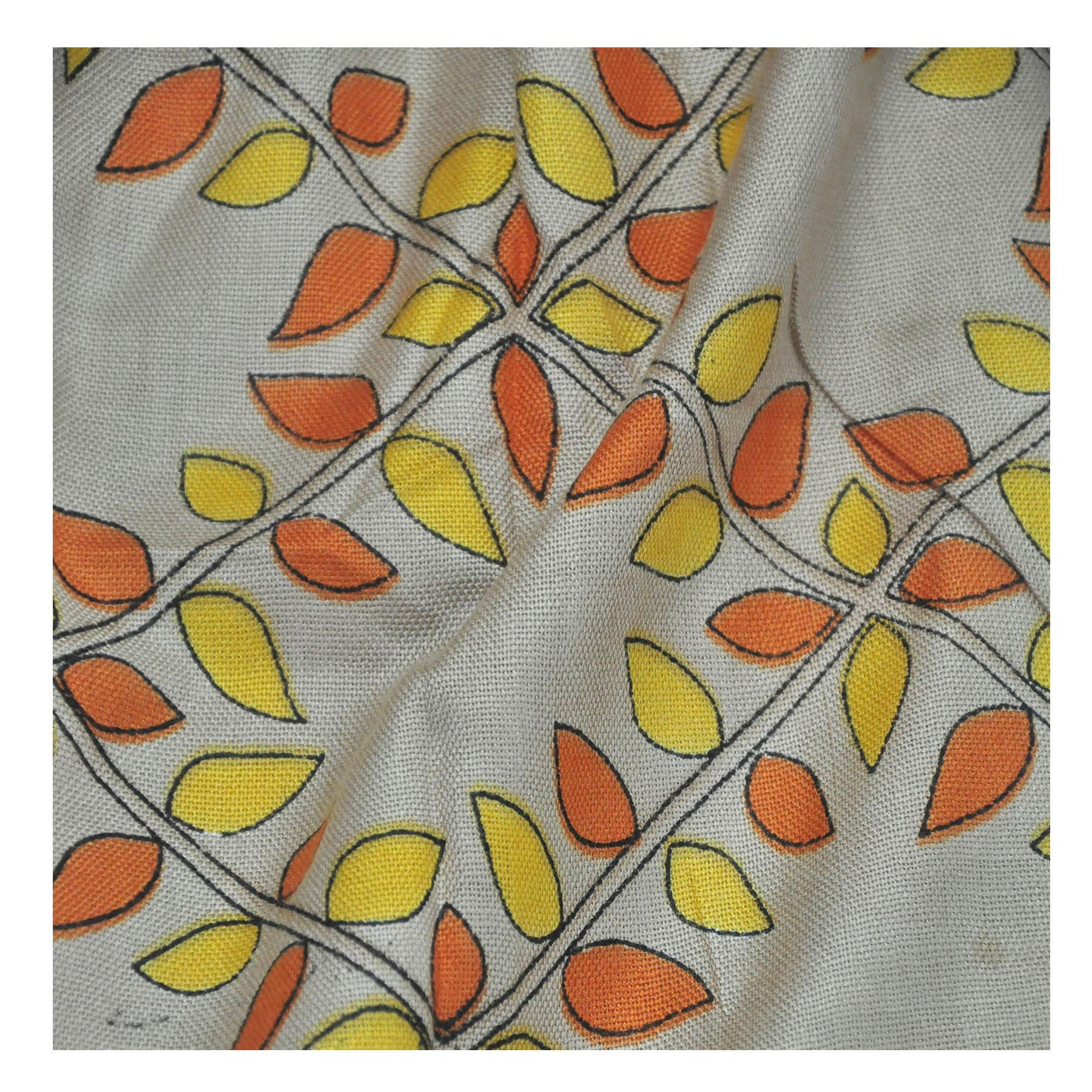 New-Ladies-Multicoloured-Leaves-Winter-Fashion-Large-Soft-Cosy-Neck-Scarf-Shawl thumbnail 3