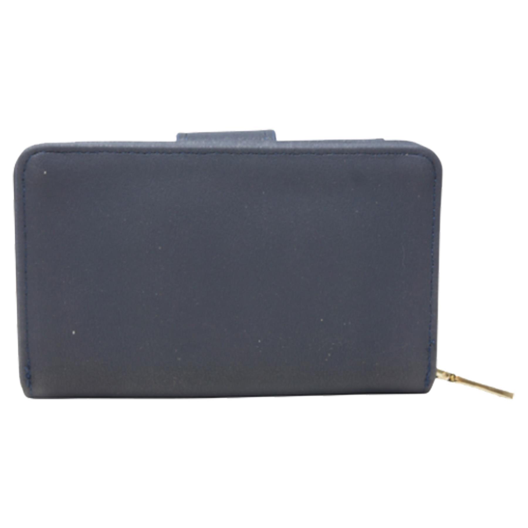 New-Ladies-Card-Slots-Zipped-Pocket-Faux-Leather-Basic-Wallet-Purse thumbnail 7