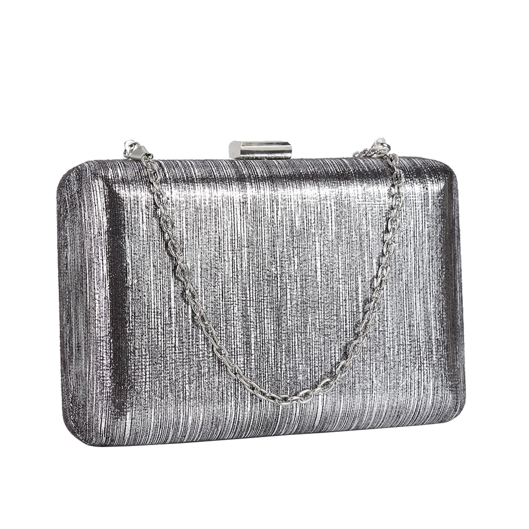 New-Ladies-Hard-Compact-Metallic-Effect-Faux-Leather-Party-Clutch-Bag thumbnail 12