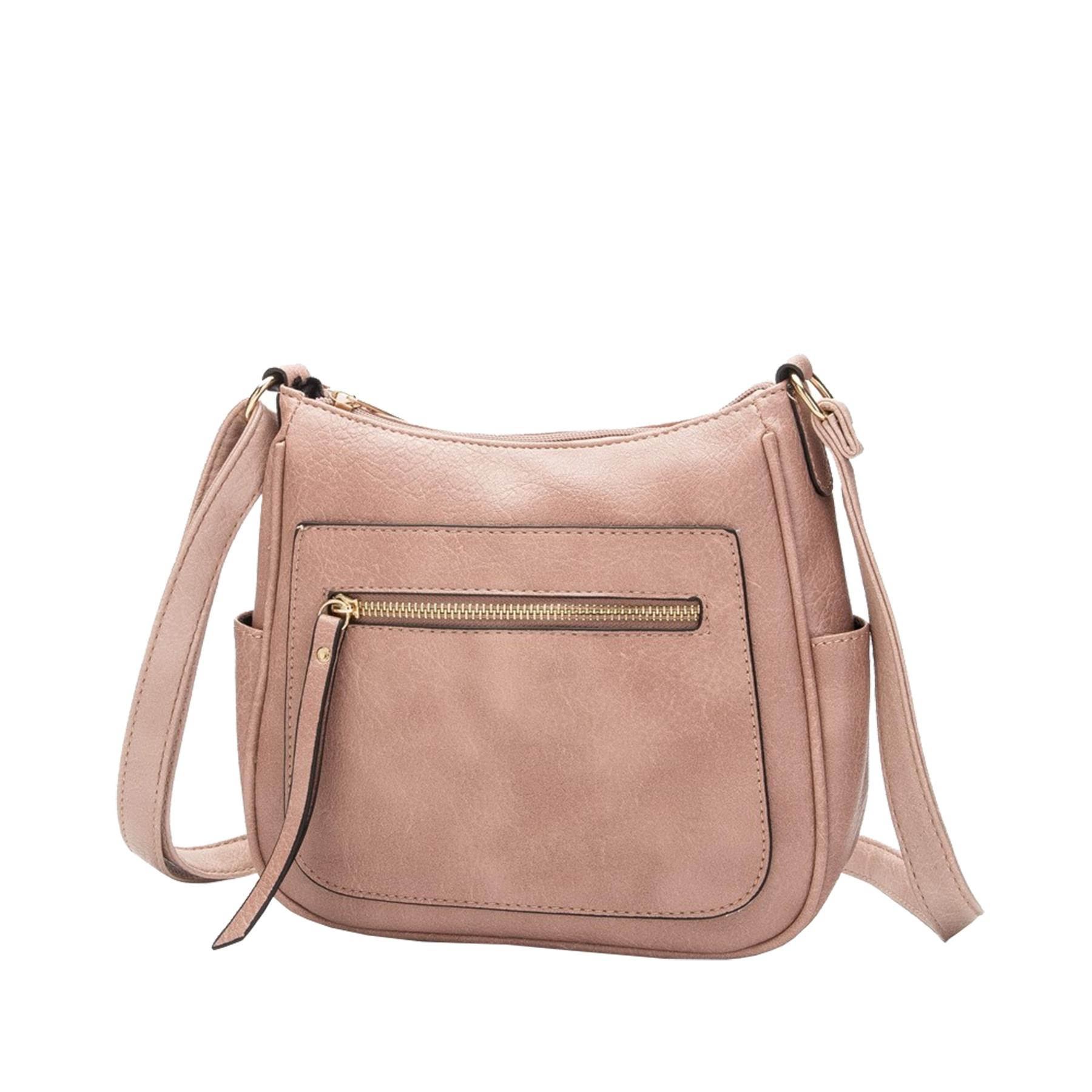 New-Women-s-Front-Zip-Faux-Leather-Basic-Small-Crossbody-Messenger-Bag thumbnail 6