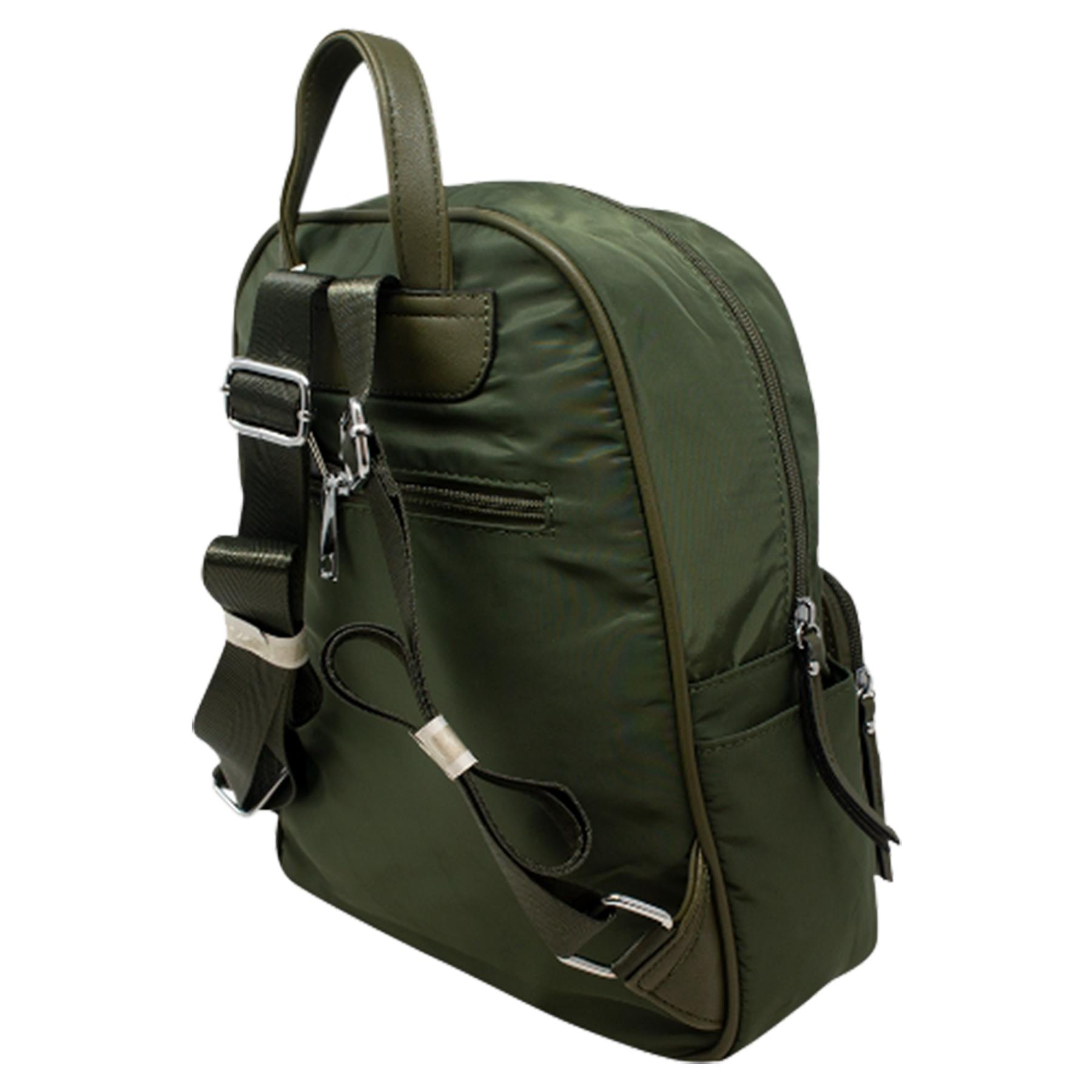 New-Unisex-Plain-Nylon-Showerproof-School-College-Backpack-Rucksack thumbnail 14