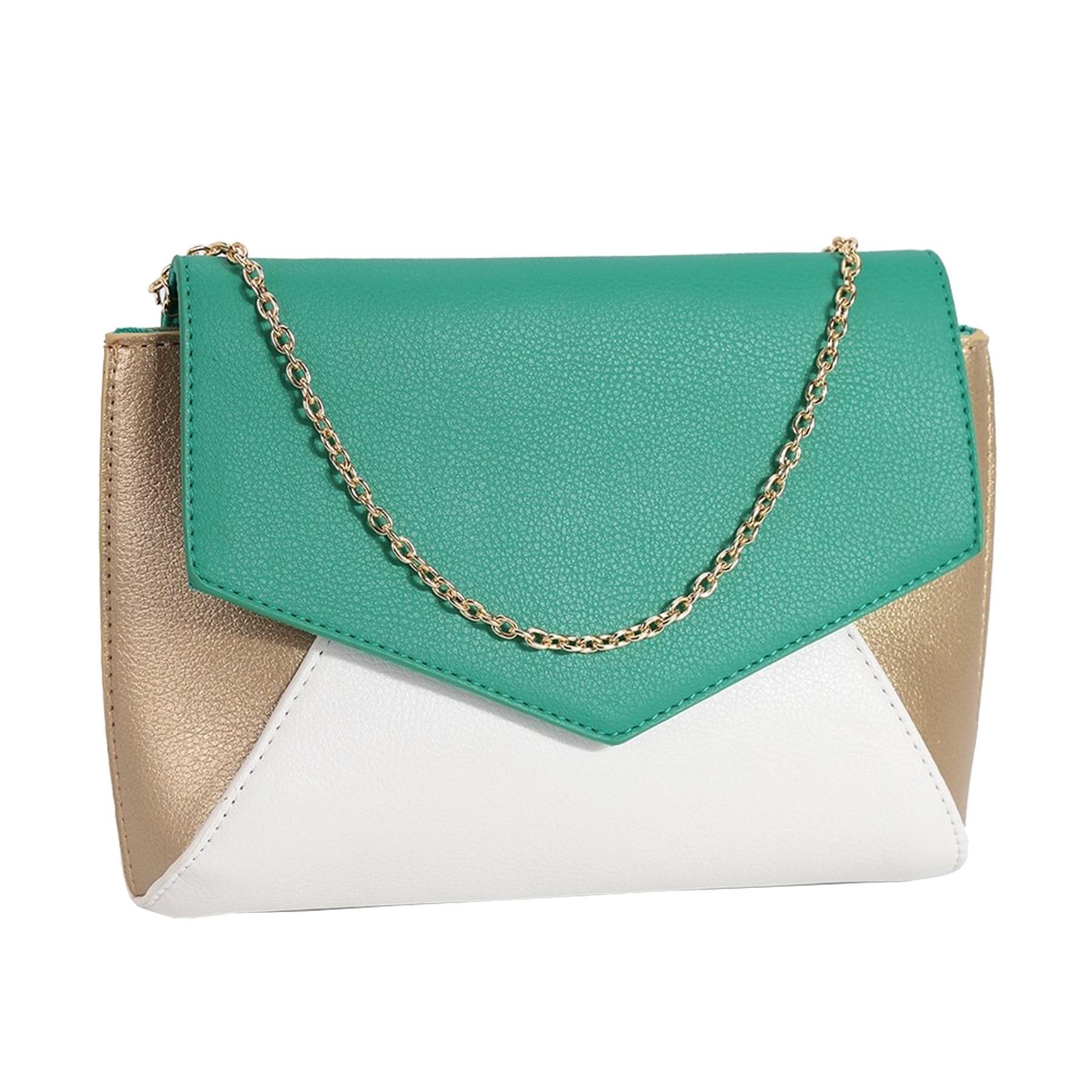 New-Women-s-Faux-Leather-Patent-Multicolour-Envelope-Clutch-Bag-Purse thumbnail 9