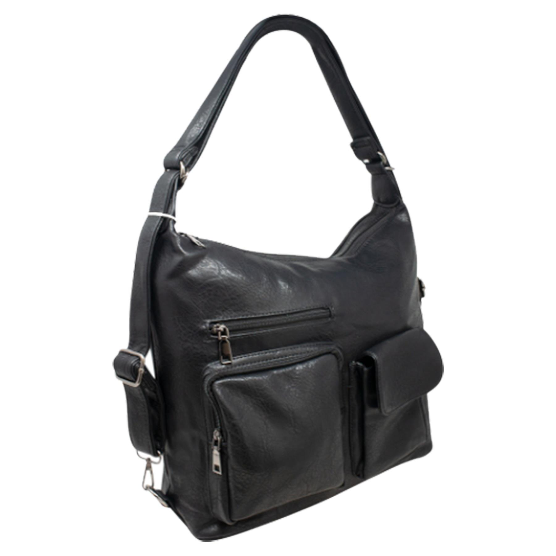New-Women-s-Men-s-Faux-Leather-Multi-Purpose-Crossbody-Messenger-Bag thumbnail 3