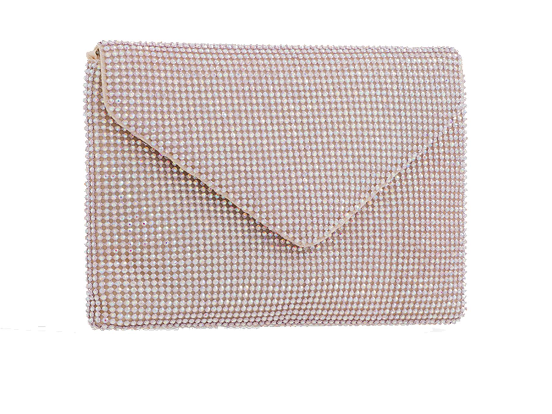 no tracolla catena Hay di rosa a diamante a Pochette Existencias pochette sera da con con dorata forma nera pn1Zq