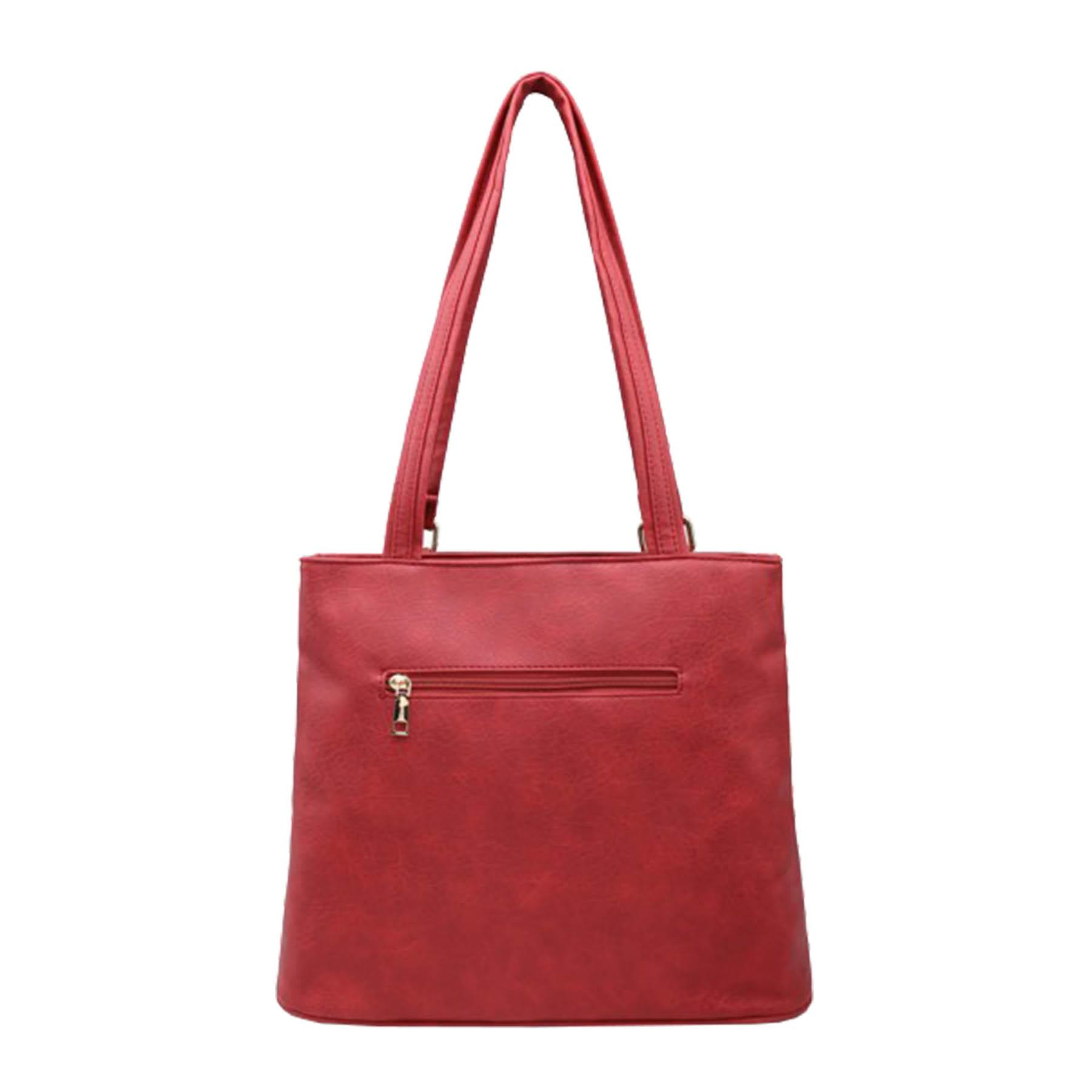New-Panel-Design-Synthetic-Leather-Simple-Shoulder-Shopper-Tote-Bag thumbnail 11