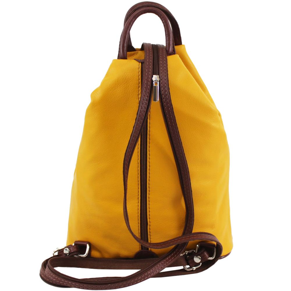 539aa50282 New Real Leather Plain Two Tone Vera Pelle Stamp Women s Rucksack ...