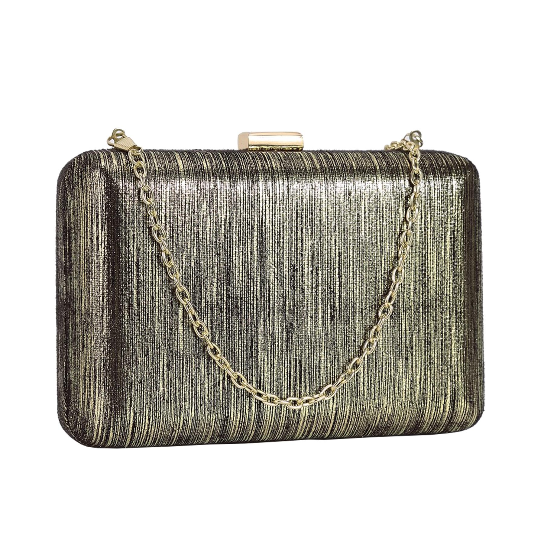 New-Ladies-Hard-Compact-Metallic-Effect-Faux-Leather-Party-Clutch-Bag thumbnail 3