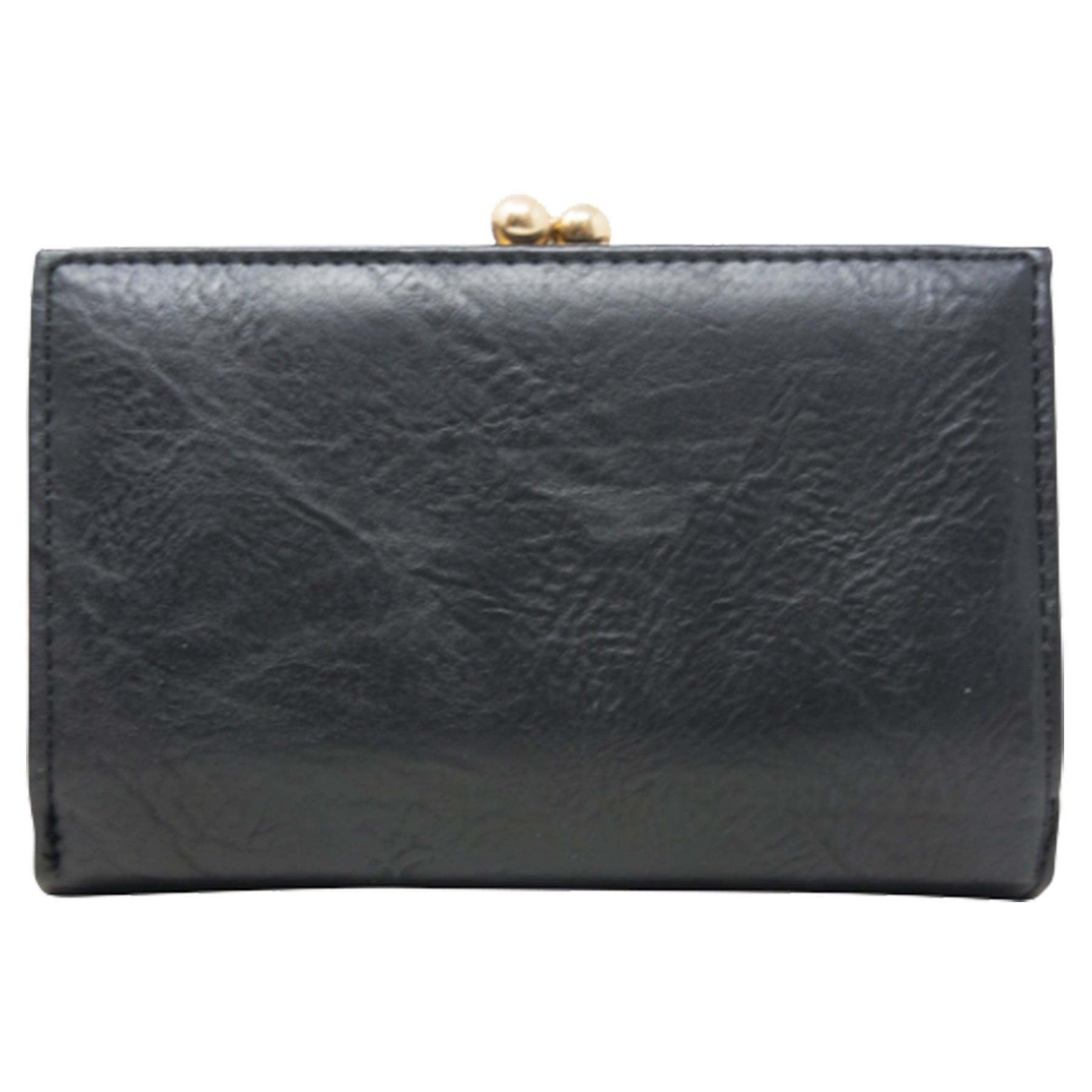 New-Synthetic-Leather-Kiss-Lock-Compartment-Ladies-Casual-Wallet-Purse thumbnail 4