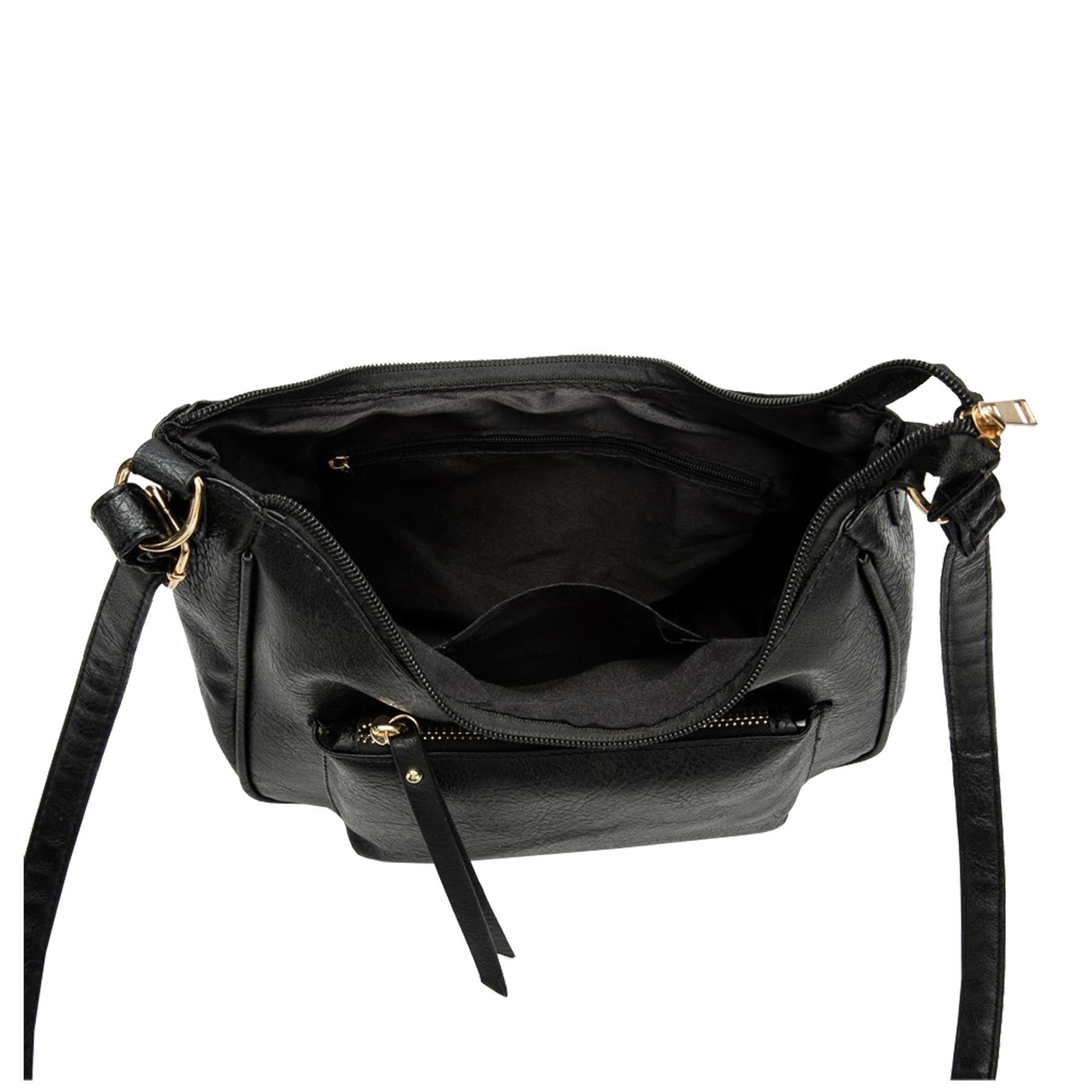 New-Soft-Synthetic-Leather-Front-Pocket-Ladies-Casual-Crossbody-Bag-Handbag thumbnail 7