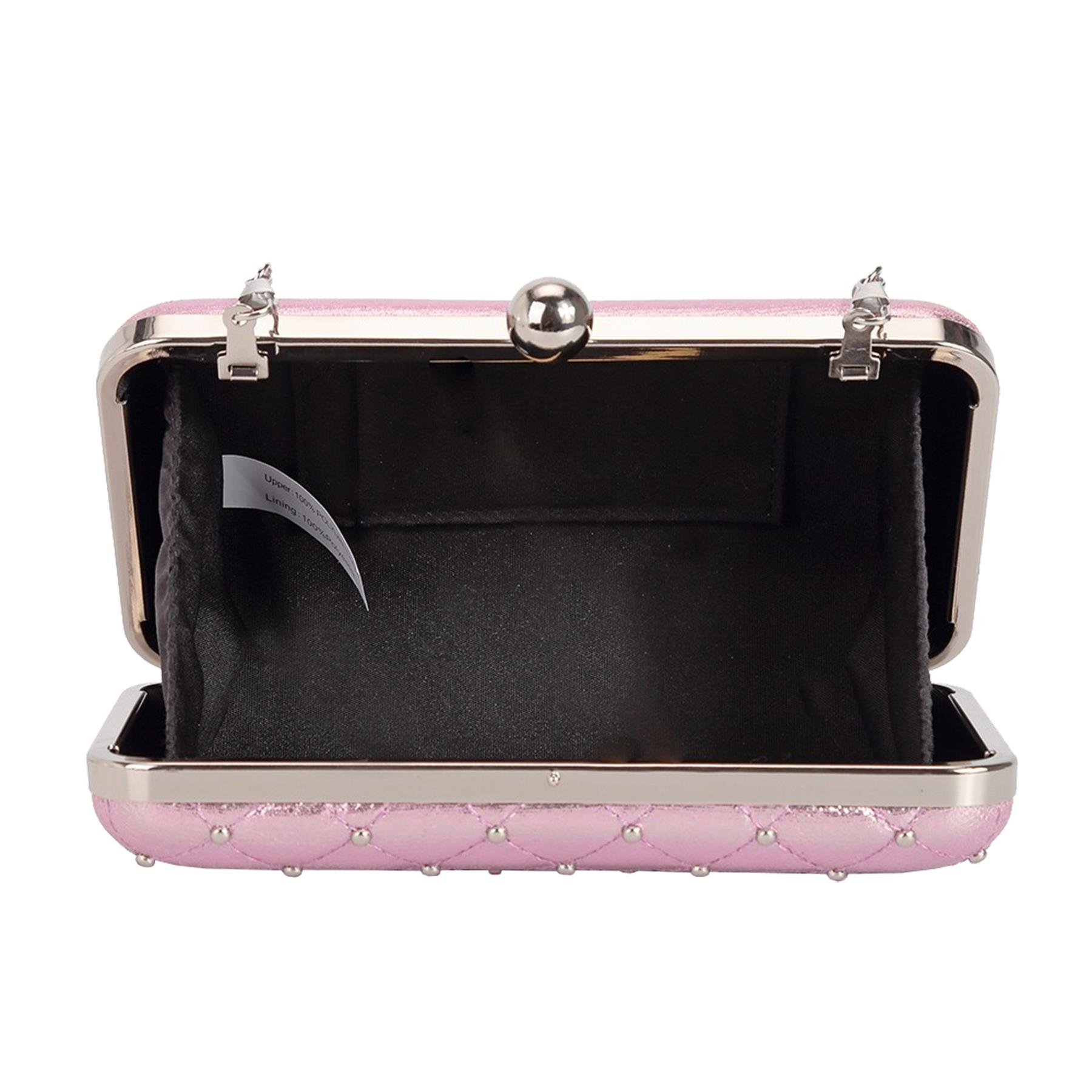 New-Women-s-Quilted-Studded-Faux-Leather-Party-Bridal-Prom-Box-Clutch-Bag thumbnail 10