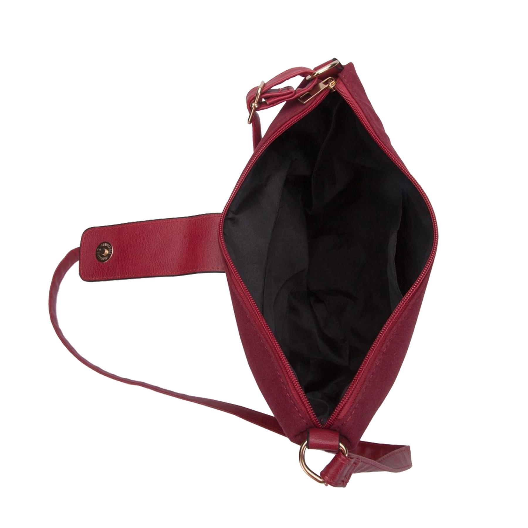 New-Ladies-Two-Toned-Faux-Leather-Fashion-Shoulder-Cross-Body-Bag thumbnail 7