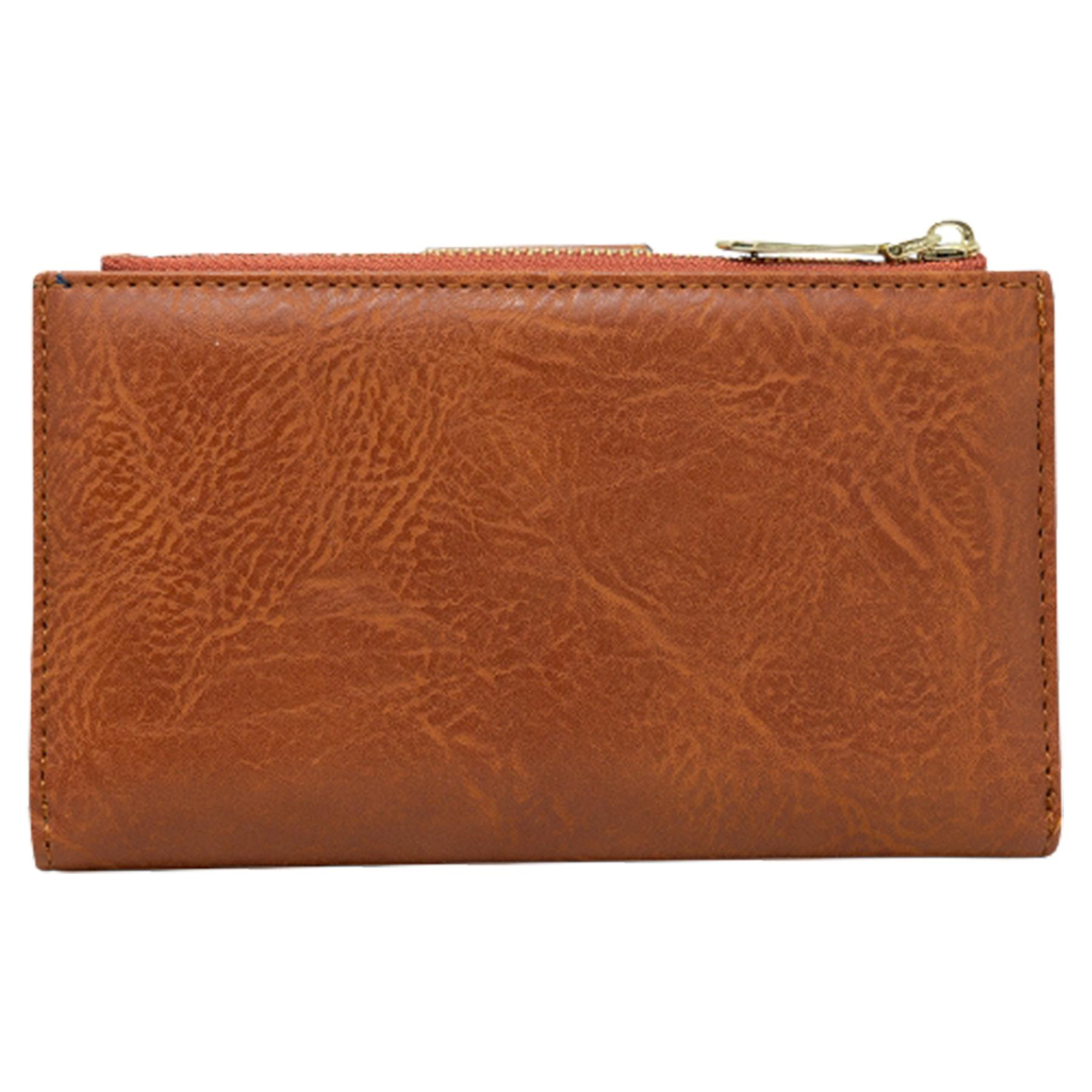 New-Soft-Plain-Synthetic-Leather-Card-Organiser-Ladies-Long-Purse thumbnail 12