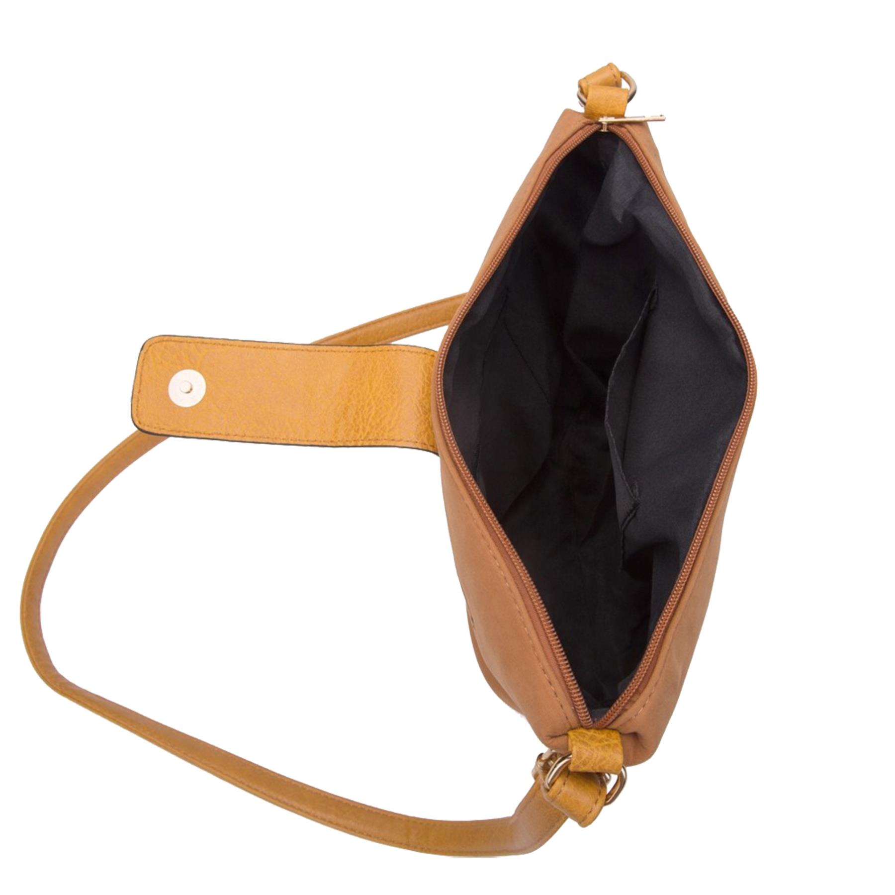 New-Ladies-Two-Toned-Faux-Leather-Fashion-Shoulder-Cross-Body-Bag thumbnail 13