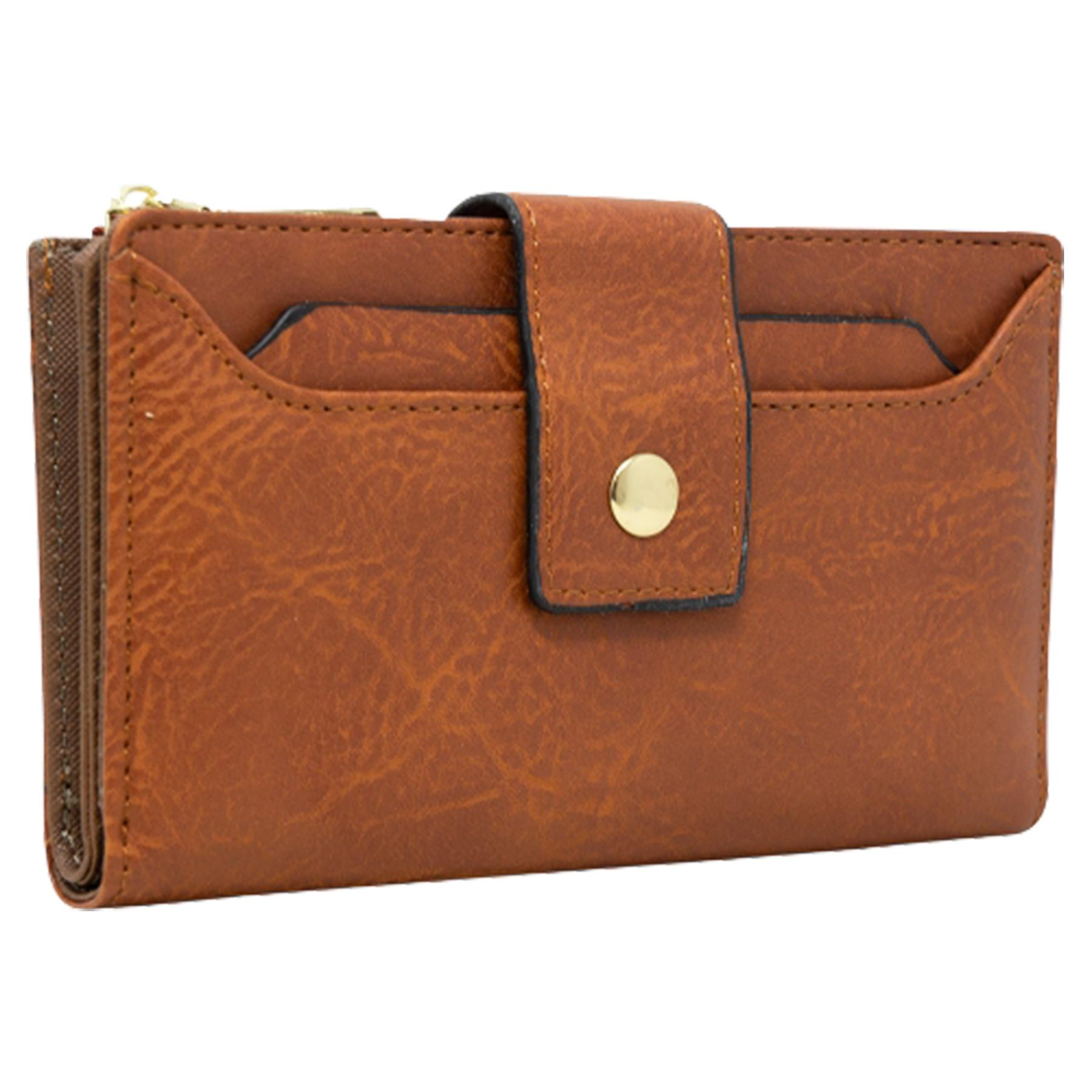 New-Soft-Plain-Synthetic-Leather-Card-Organiser-Ladies-Long-Purse thumbnail 11
