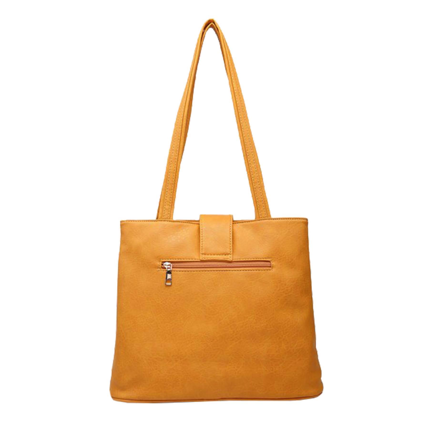 New-Women-s-Metallic-Bow-Decoration-Faux-Leather-Shopper-Shoulder-Tote-Bag thumbnail 9